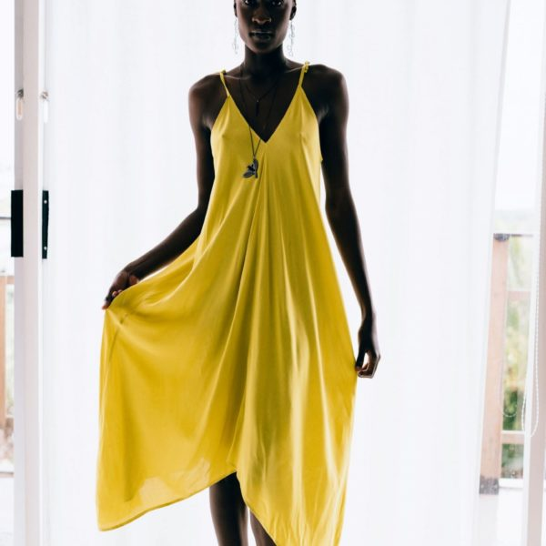 Bali Dress chatreuse